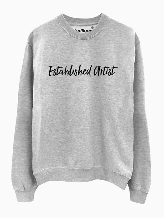 Established Artist Crew Crews AKP Unisex Grey Small