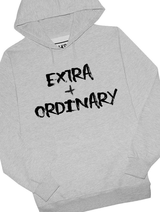 Extra + Ordinary Hoodie Hoodies AKP Unisex Grey Small