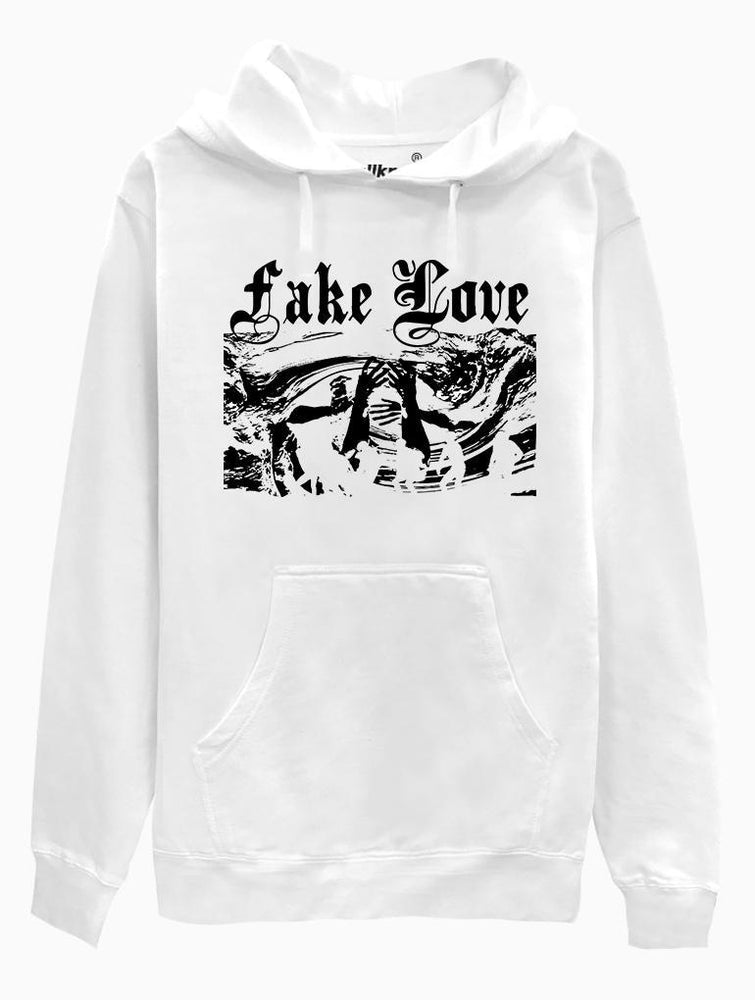 Fake Love Hoodie Hoodies AKP Unisex White Small
