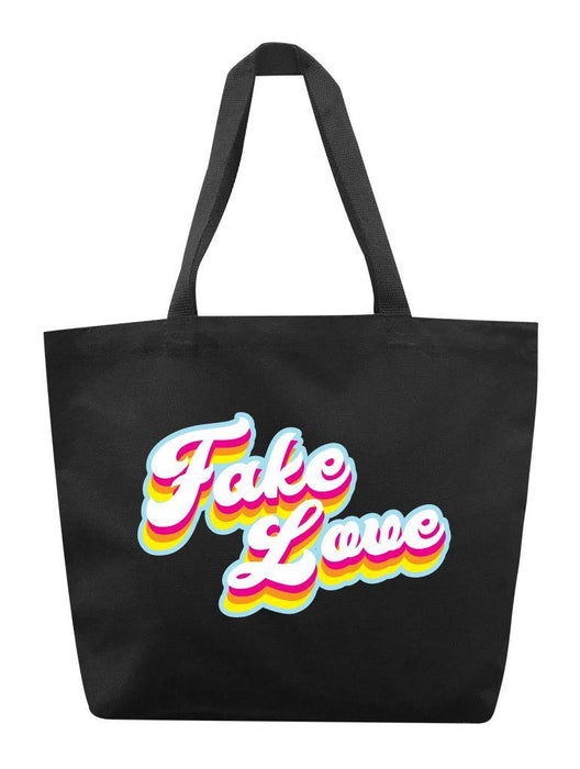 Fake Love Retro Tote Tote AKP Black