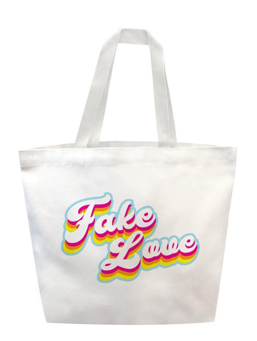 Fake Love Retro Tote Tote AKP White