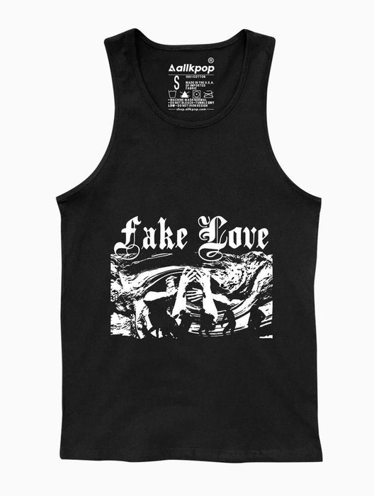 Fake Love Tank Tanks AKP Unisex Black Small