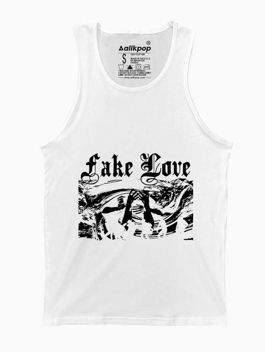 Fake Love Tank Tanks AKP Unisex White Small
