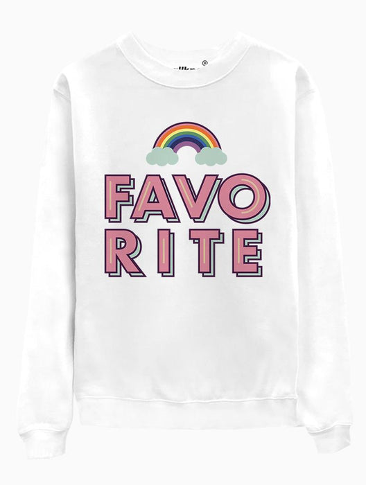 Favorite Crew Crews AKP Unisex White Small