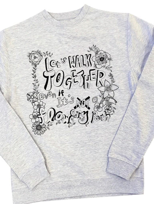 Flower Crew Crews AKP Unisex Grey Small