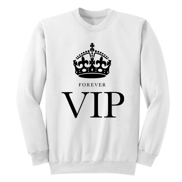 FOREVER VIP Crew Crews AKP Unisex White Small