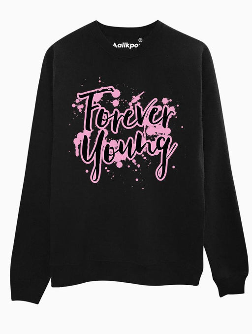 Forever Young Crew Crews AKP Unisex Black Small