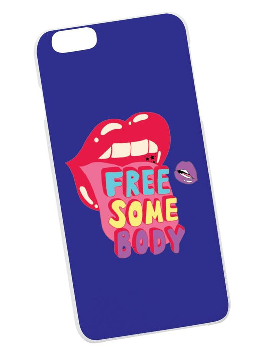 Free Somebody Case Phone Case AKP Blue