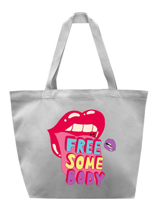 Free Somebody Tote Tote AKP Grey