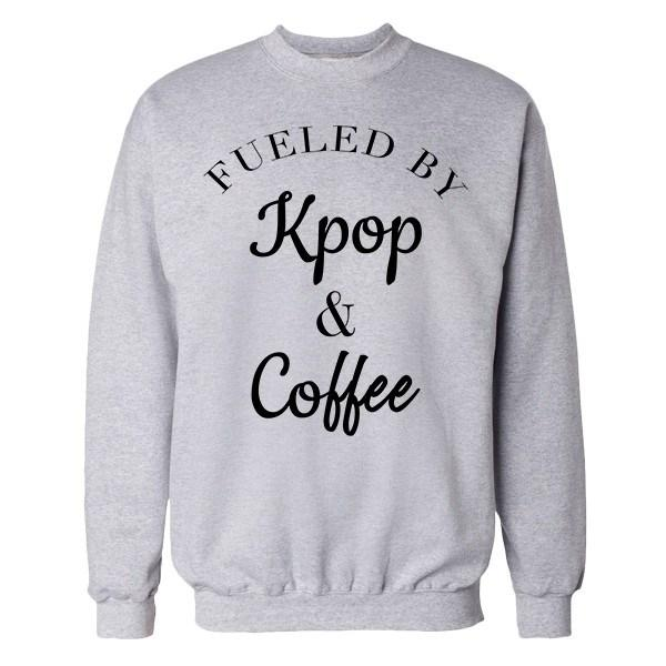 Fueled by K-Pop Crew Crews AKP Unisex Grey Small