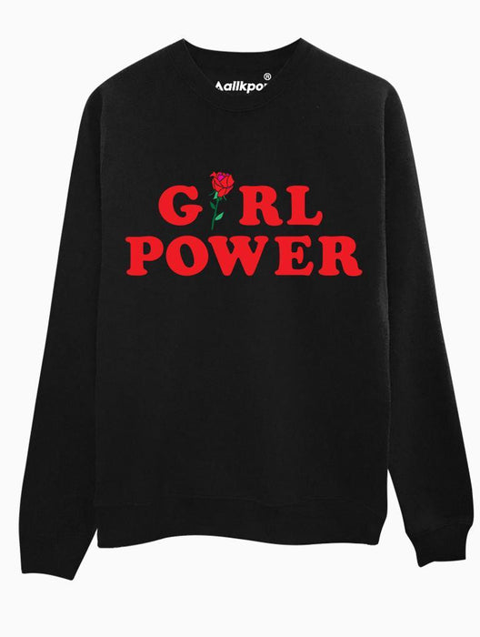 Girl Power Crew Crews AKP Unisex Black Small