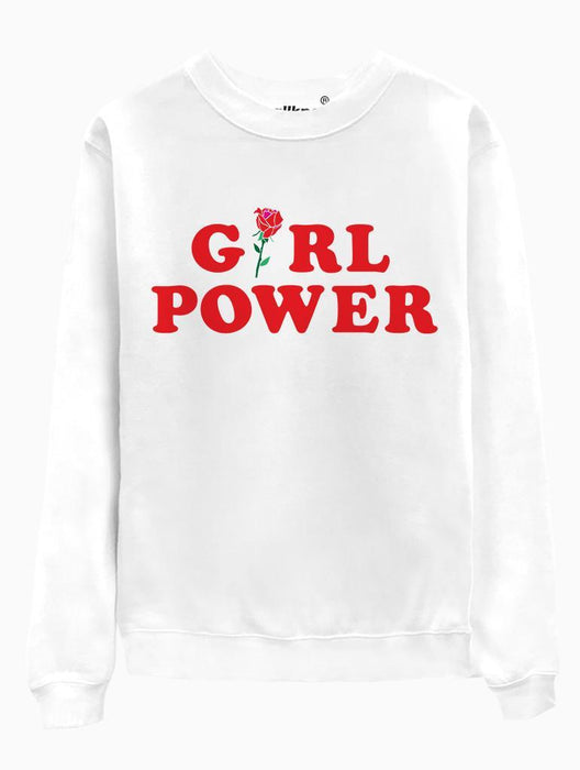 Girl Power Crew Crews AKP Unisex White Small