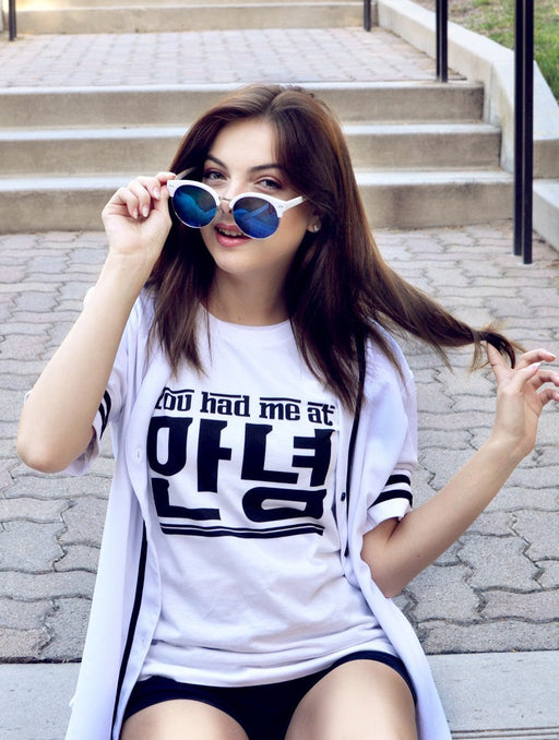 Had Annyeong Tee Tees AKP Female White Small
