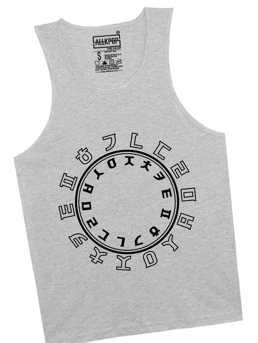 Hangul Circle Tank Tanks AKP Unisex Grey Small