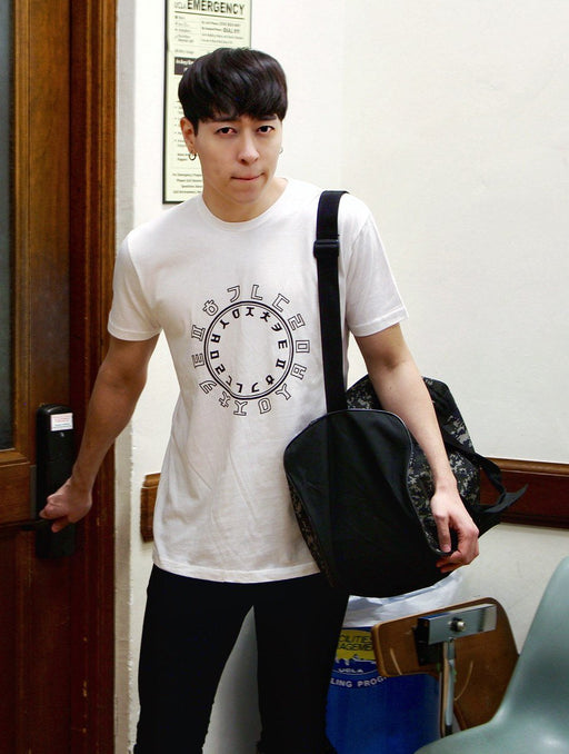 Hangul Circle Tee Tees AKP Male White Small