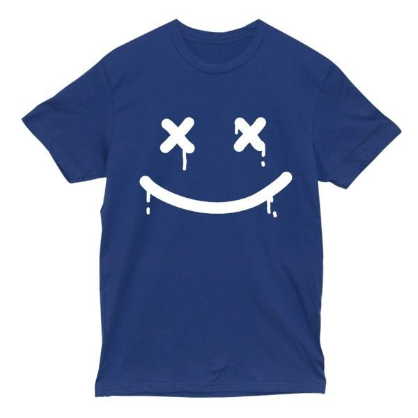 Happy Death Tee Tees AKP Male Blue Small