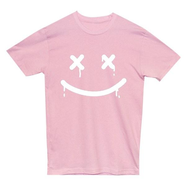 Happy Death Tee Tees AKP Male Pink Small