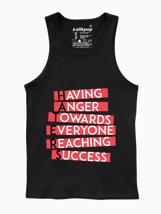 Haters Tank Tanks AKP Unisex Black Small