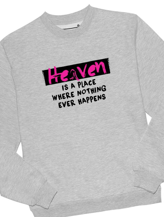 Heaven Happens Crew Crews AKP Unisex Grey Small