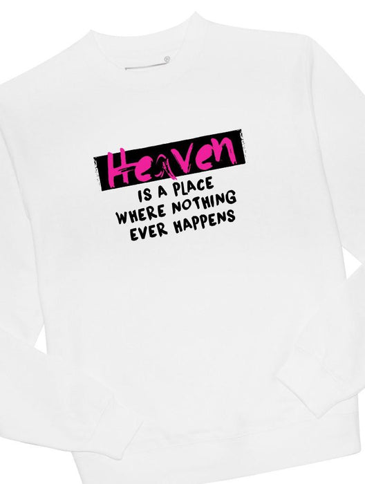 Heaven Happens Crew Crews AKP Unisex White Small