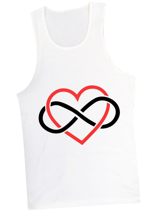 Infinite Love Tank Tanks AKP Unisex White Small
