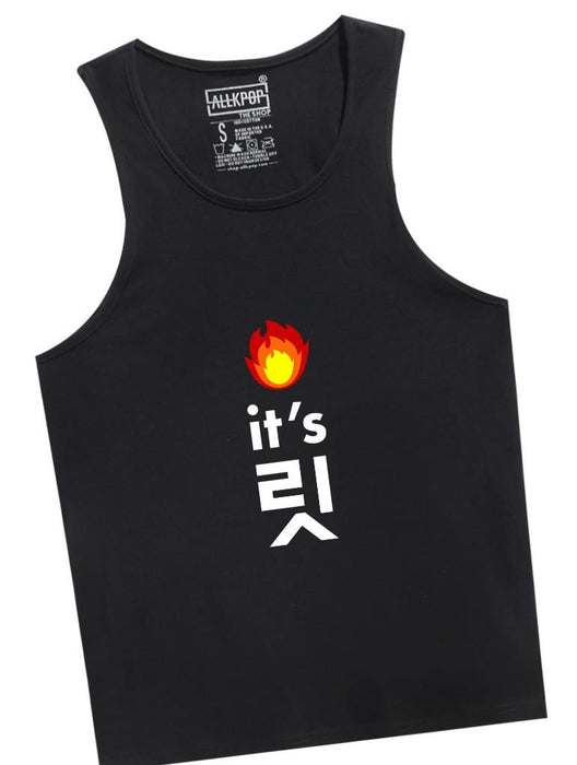 It's Lit Tank Tanks AKP Unisex Black Small