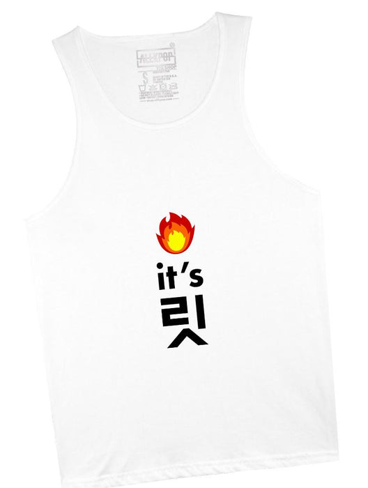 It's Lit Tank Tanks AKP Unisex White Small