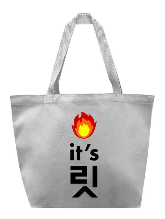 It's Lit Tote Tote AKP Grey