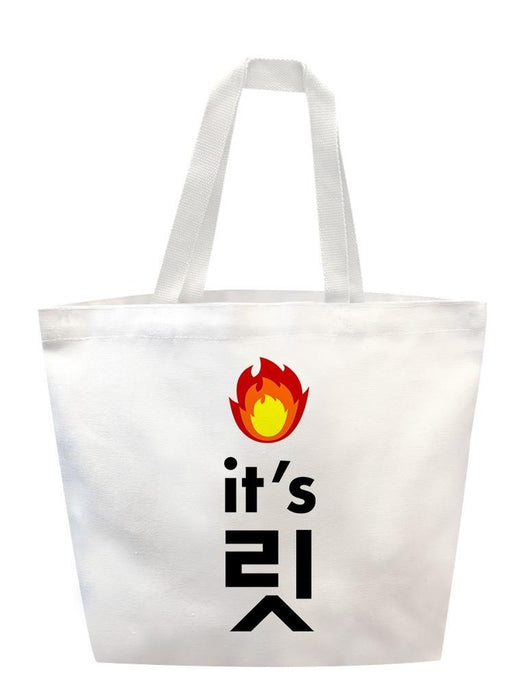 It's Lit Tote Tote AKP White