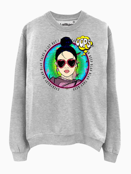 ITZ ICY Crew Crews AKP Unisex Grey Small