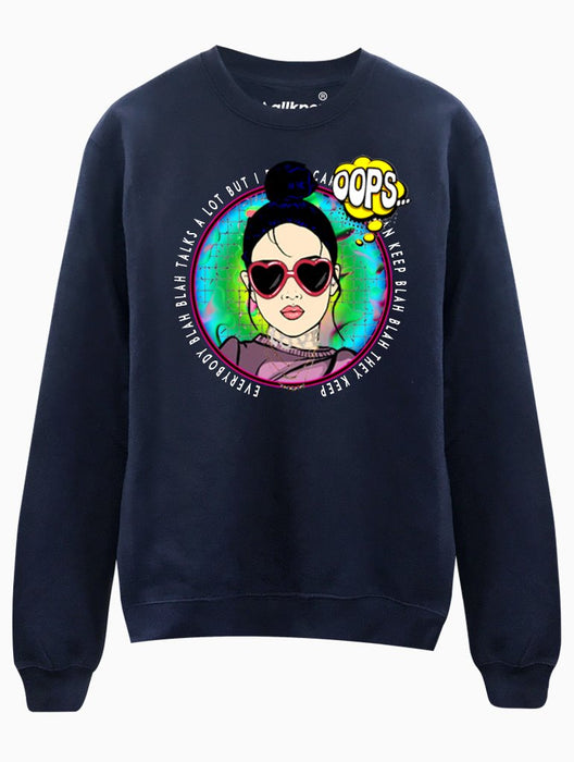 ITZ ICY Crew Crews AKP Unisex Navy Small