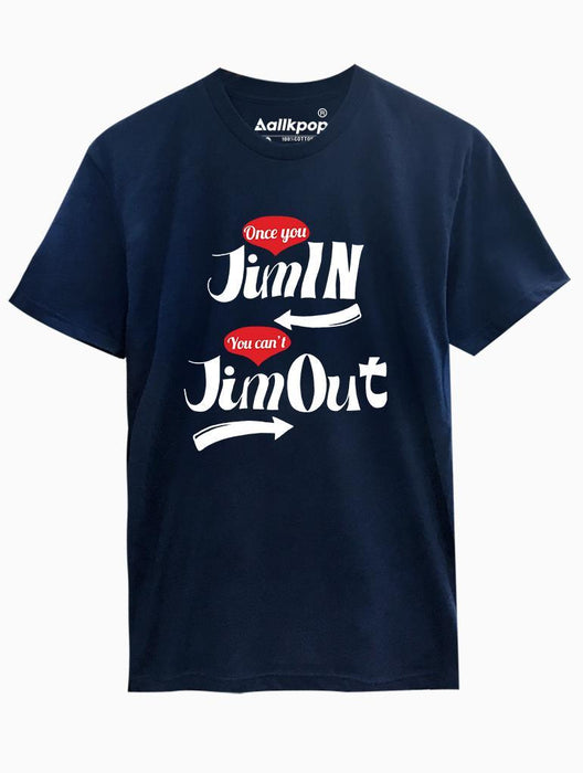 Jiminout Tee Tees AKP Male Navy Small
