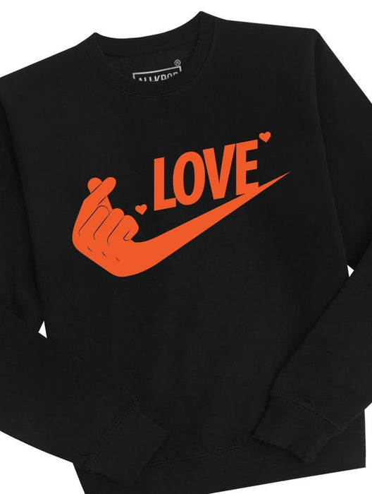 Just Love It Crew Crews AKP Unisex Black-Orange Small