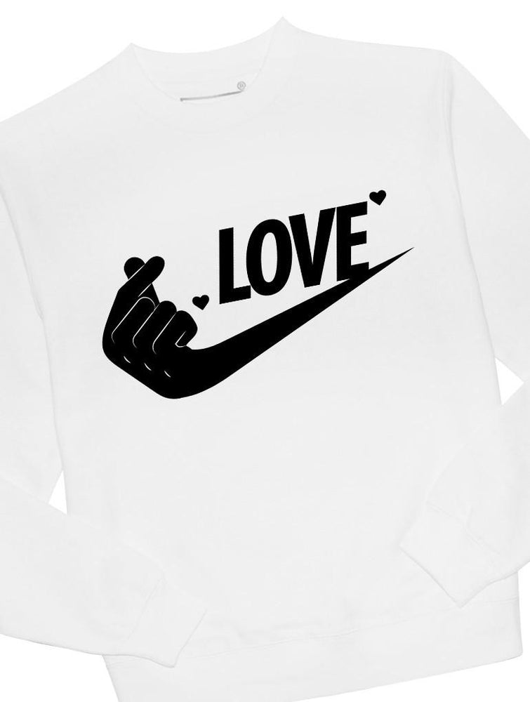 Just Love It Crew Crews AKP Unisex White Small