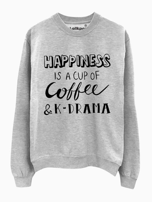K Happiness Crew Crews AKP Unisex Grey Small