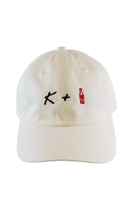 K + POP Dad Hat Dad Hat AKP White