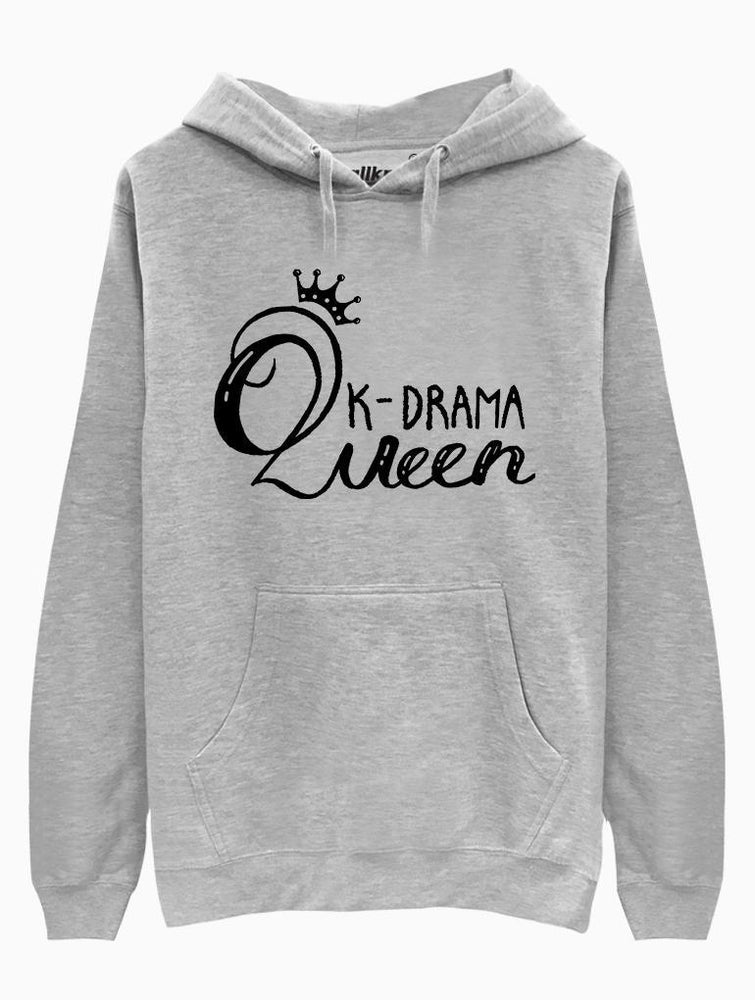 KDrama Queen Hoodie Hoodies AKP Unisex Grey Small