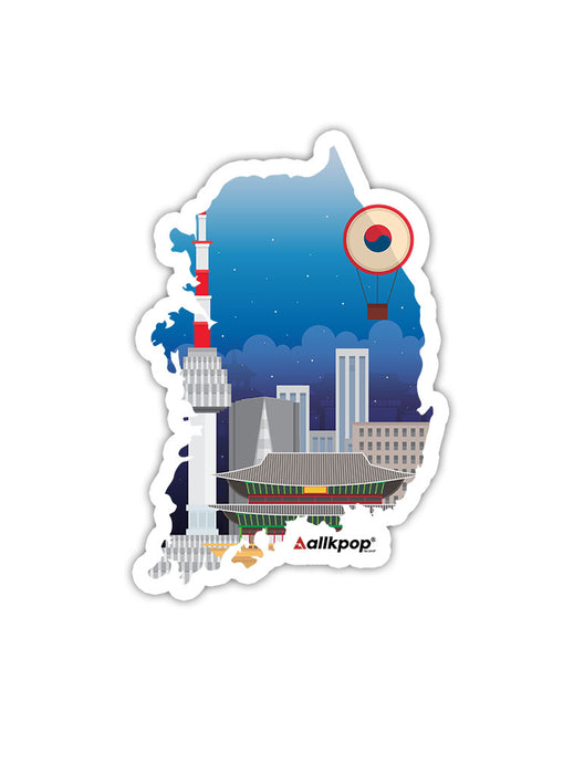 Korea Map Sticker