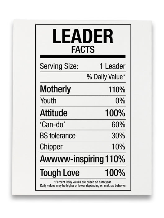 Leader Fact Canvas