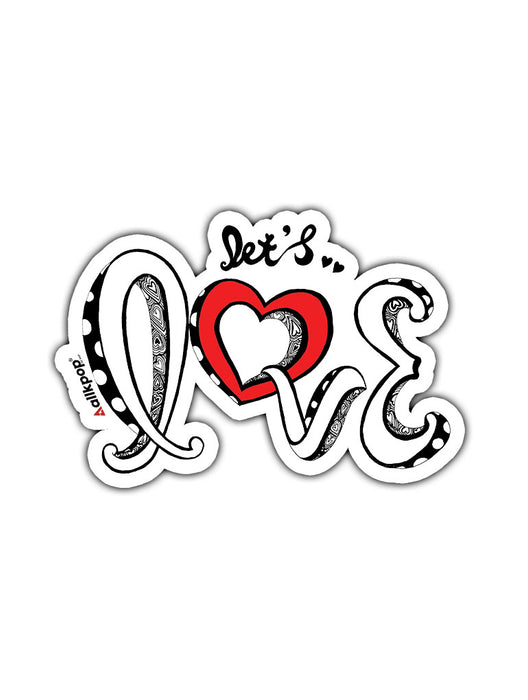 Let's Love Sticker