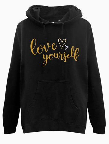 Love Yourself Calig Hoodie