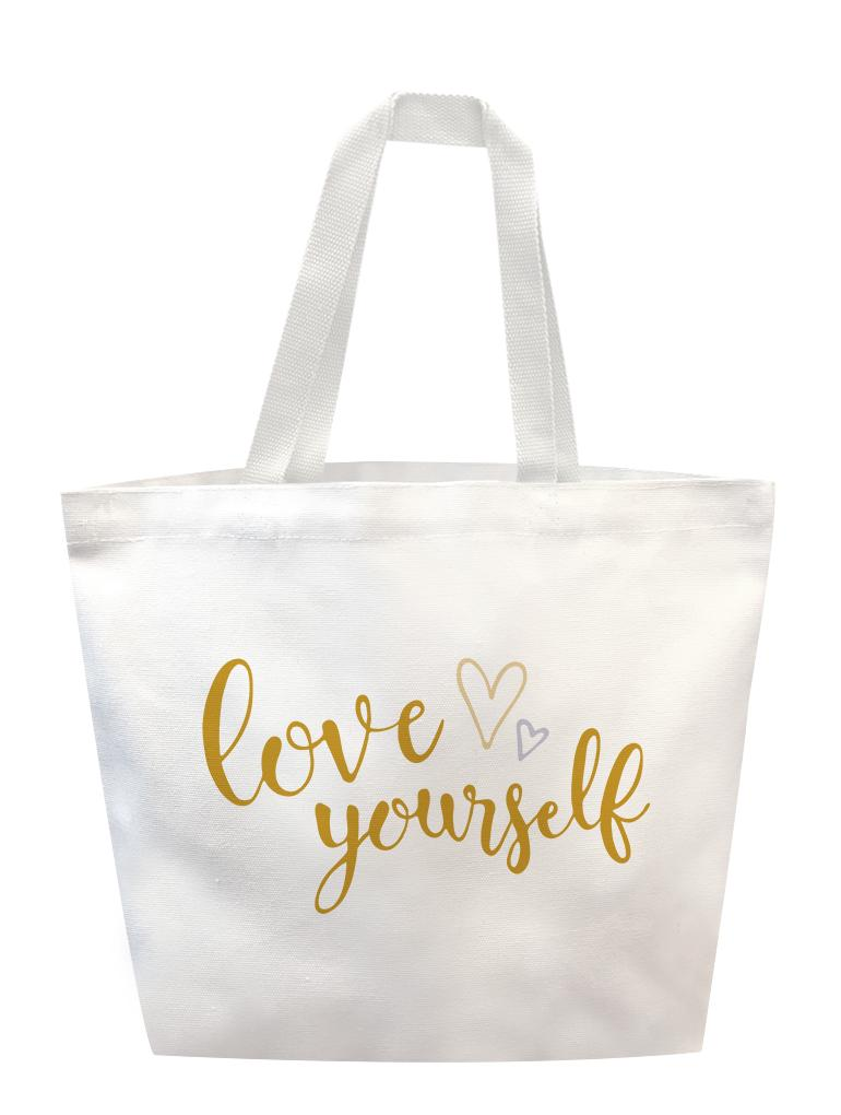 Love Yourself Calig Tote
