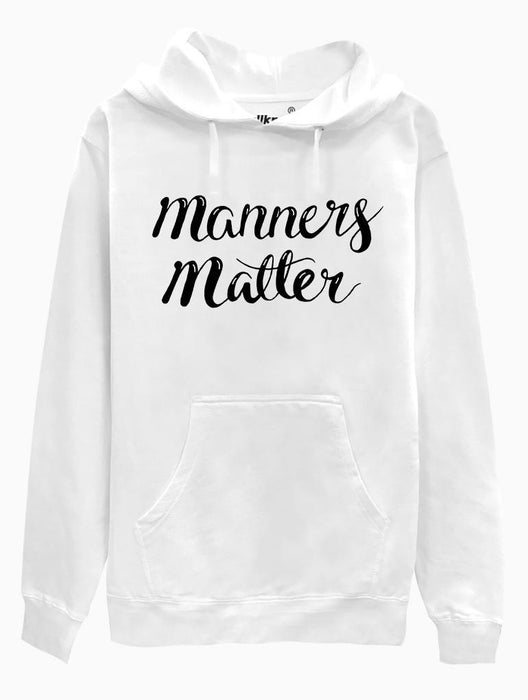 Manners Matter Hoodie Hoodies AKP Unisex White Small