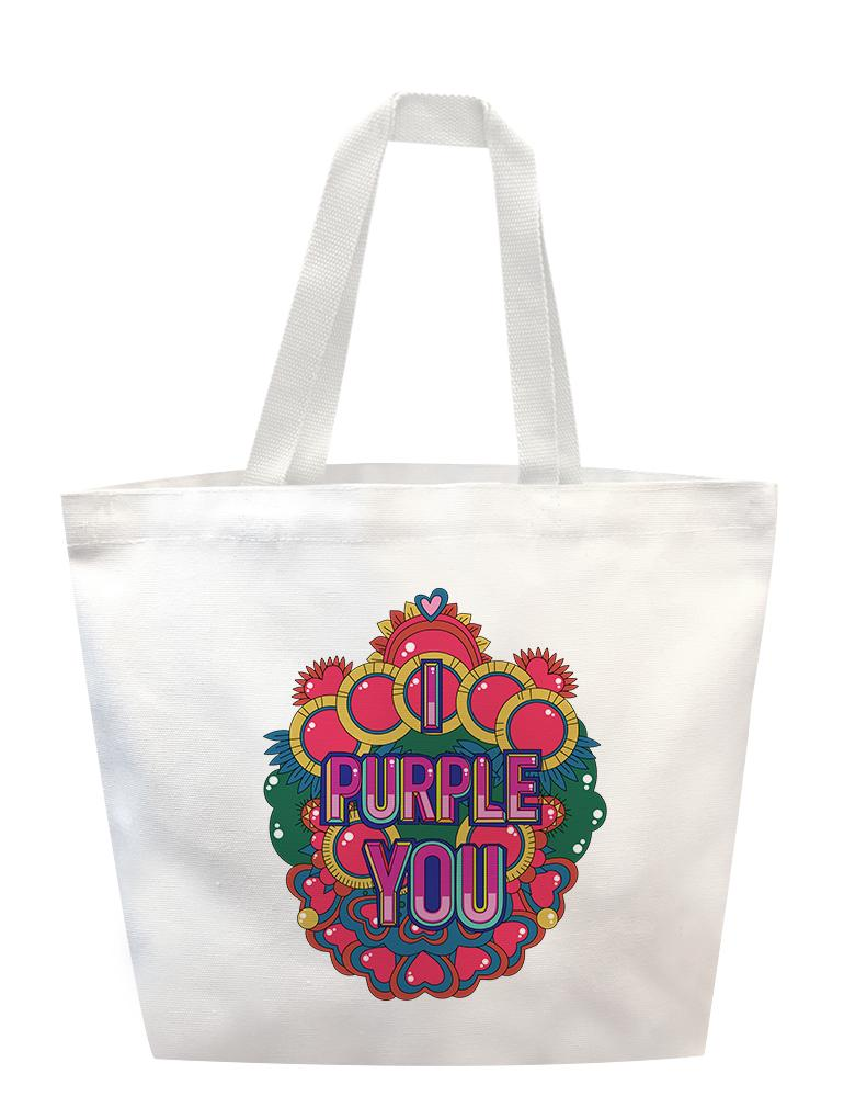 Purple You Reef Tote