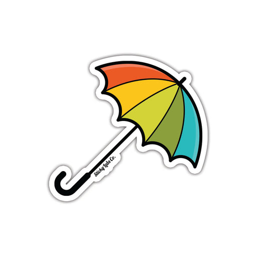Rainbow Umbrella Sticker