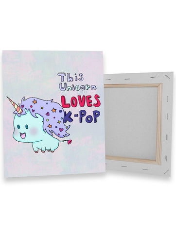 Unicorn Loves K-Pop Canvas