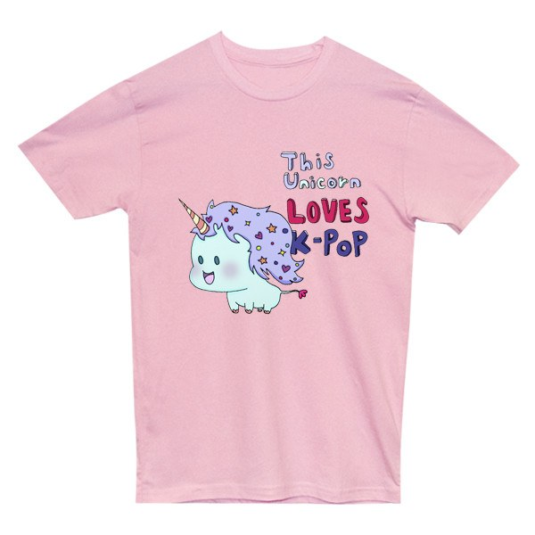 Unicorn Loves K-Pop Tee