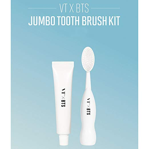 VT X BTS Jumbo Toothbrush & Toothpaste Kit + 7 BTS Photocards
