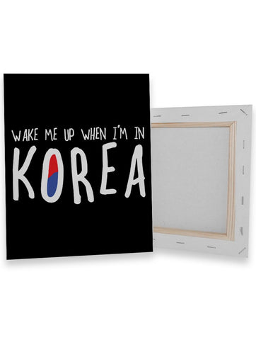 Wake Korea Canvas