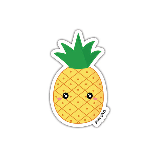 Worried Pineapple Sticker